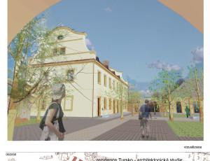 Návrh řešení parteru – Křižovnická rezidence Tursko